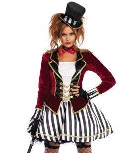 Ringmaster Pikeur Circus Vrouw Kostuum