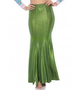 Glimmende Spandex Zeemeermin Rok Groene Alg Vrouw