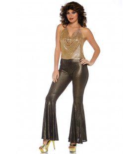 Blote Rug Disco Diva Donna Vrouw Kostuum