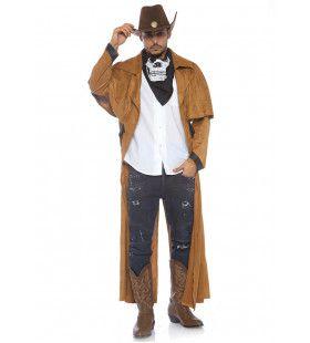 Imitatie Suede Jas Lonesome Cowboy Man