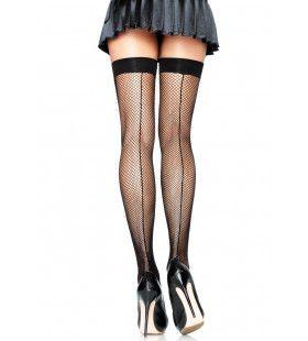 Stay Ups Visnet Met Zwarte Rand Halina Plus Size