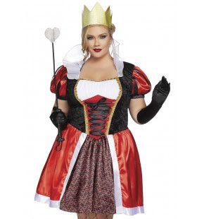 Sensuele Sprookjesboek Hartenkoningin Plus Size Vrouw Kostuum