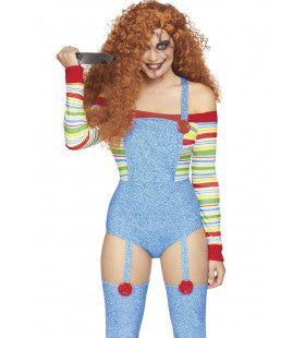 Killer Doll Charmante Chucky Vrouw Kostuum