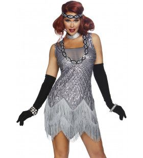 Fantastische Flapper Jaren 20 Charleston Vrouw Kostuum