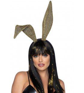 Gouden Glitter Playboy Bunny Oren