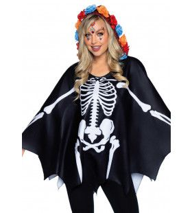 Day Of The Dead Skelet Poncho Vrouw