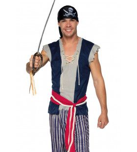 De Kielhalende Piraat Man Kostuum