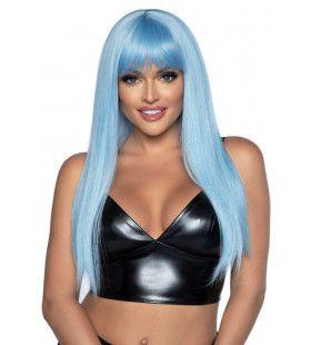 Lichtblauwe Pruik Met Pony Katy