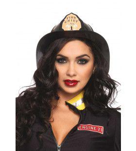 Zwarte Brandweerman Helm