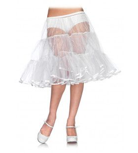 Organza Petticoat Knielengte Wit