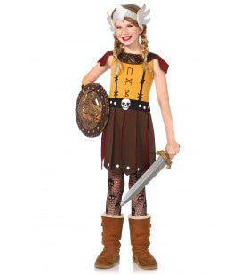 Meisjes Viking Strijdster Kostuum