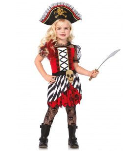 Heftig Kinder Piraatje Meisje Kostuum