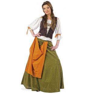 Bediende Middeleeuws Buffet Gelag Vrouw Kostuum
