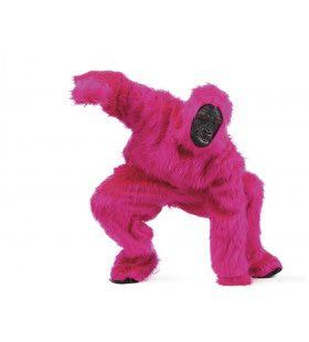 Roze Bos Gorilla Man Kostuum