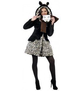 Jas Met Sjaal Savanne Luipaard Vrouw Kostuum