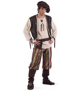 Middeleeuwse Waard Herberg Het Hijgend Hert Man Kostuum