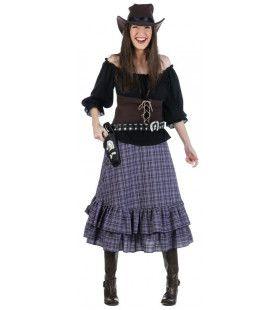 Luxe Line Dance Saloon Girl Vrouw Kostuum