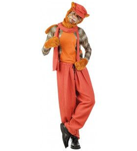 Rood Oranje Straat Kat Man Kostuum
