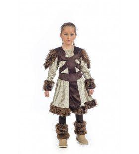 Luxe Deense Viking Freja Meisje Kostuum