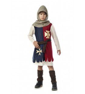 Brutale Brute Middeleeuwse Kruisridder Jongen Kostuum