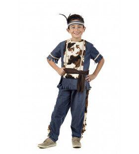 Western Indiaan Loeiende Stier Jongen Kostuum