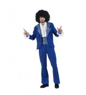 Jaren 70 Soul Artiest Barry White Man Kostuum