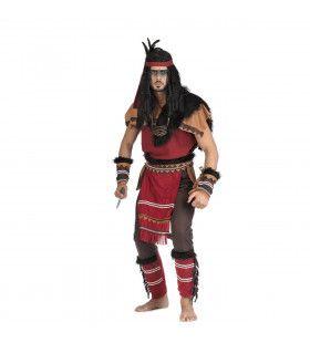 Woest Stampende Bizon Inidiaan Man Kostuum