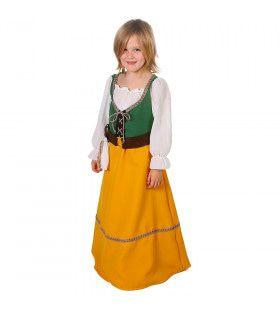 Vrolijke Kleuren Viking Bjork Sigmarsdottir Meisje Kostuum