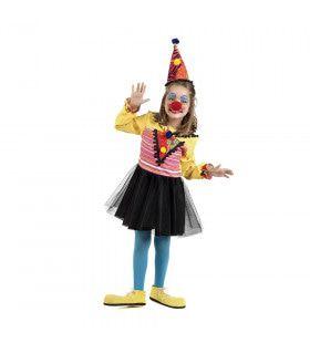 Sarah Schaterlach Vrolijk Circus Clown Meisje Kostuum