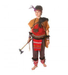Rocky Mountians Indiaan Woeste Wolf Jongen Kostuum