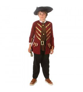 Engelse Fregat Kapitein Grote Britse Rijk Jongen Kostuum