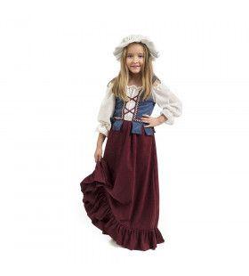 Koopvrouw Boerenmarkt Middeleeuwen Meisje Kostuum