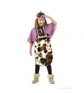 Dwaze Koe Dakota Indiaan Meisje Kostuum