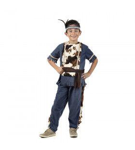Dolle Stier Dakota Indiaan Jongen Kostuum
