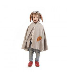 Cape Groot Grijs Wortel Konijn Kind Kostuum