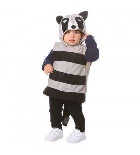 Amerikaanse Gestreepte Wasbeer Kind Kostuum
