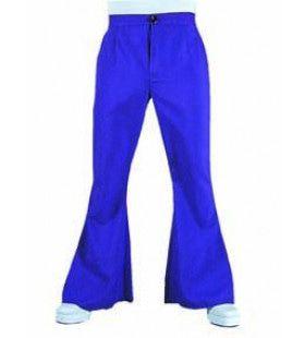 Barry White Soul Broek Wijde Pijpen Blauw Man Kostuum
