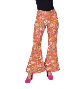 Vrolijk Tuintje Hippie Broek Oranje Vrouw
