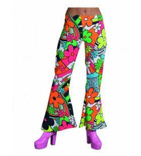 Knalkleuren Hippie Broek Bloemen Vrouw