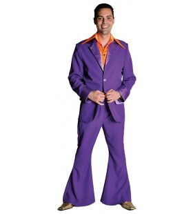 Paars Saturday Night Boogie Night Man Kostuum