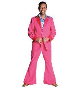 Roze Saturday Night Boogie Night Man Kostuum