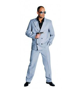 Grijs Sonny Miami Vice Man Kostuum