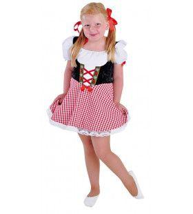 Rode Zoet Alcoholvrij Biertje Dirndl Meisje Kostuum