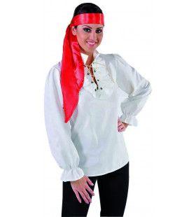 Blouse Piraat Wit Als Gebroken Botten Vrouw