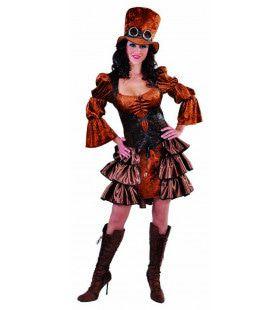 Steampunk Stoomkracht Fantasie Vrouw Kostuum