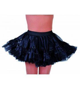 Rockabilly Petticoat Zwart Vrouw