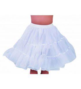 Jaren 50 High School Petticoat Wit Vrouw