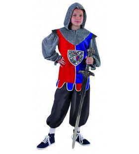 Moedige Middeleeuwse Zwaardvecht Ridder Jongen Kostuum