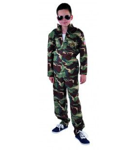 Luchtmacht Amerika Straaljager Piloot Kind Kostuum