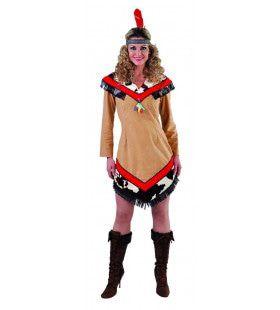 Wolastoqiyik Indiaan Wilde Westen Vrouw Kostuum